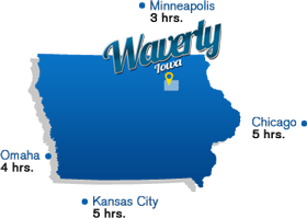 Waverly location map